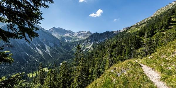 Wanderweg: der Lakaiensteig zum Soiernhaus.